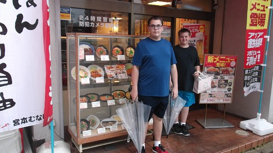"Fujiidera, Japan: The classic ""plastic food"" display out front made it easy for them to choose."