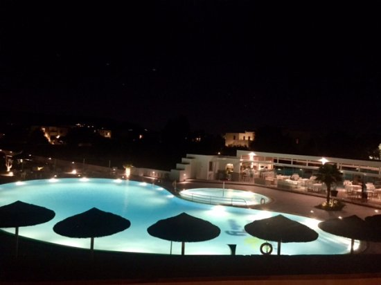 Aegean Land: night view from our balcony