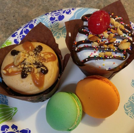 Shorewood, IL: Snickers and banana split cupcakes, pistachio and passionfruit macaroons