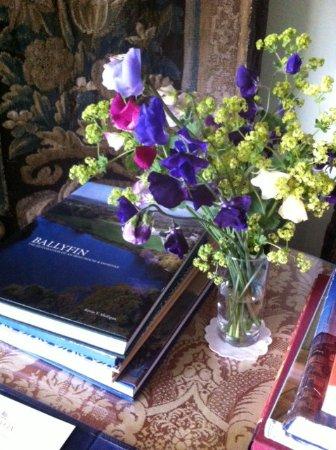 Ballyfin Demesne: Bedside table arrangement.