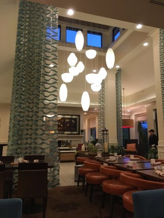 Glastonbury, CT: View of lobby from restaurant