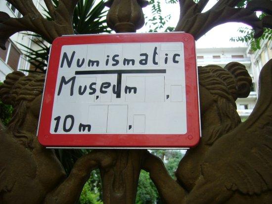 Numismatic Museum: Placard.