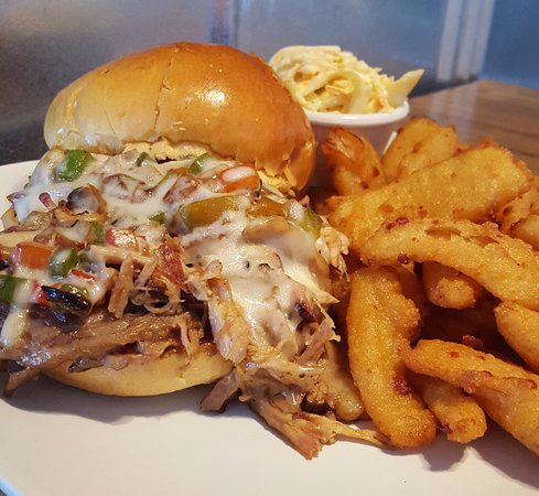 Suffolk, VA: The Boss Hog (BBQ & Brisket, Provolone, grilled onions & peppers)