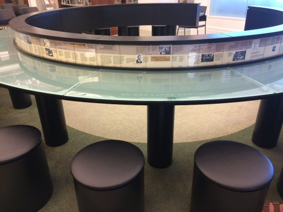 Nashville Public Library: Typical lunch counter where black activists would sit to protest segregation