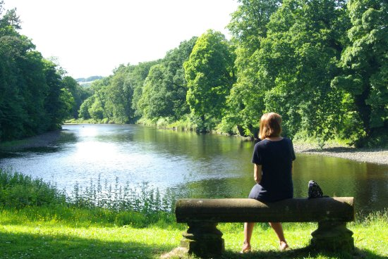 Auldgirth, UK: river view from lawns