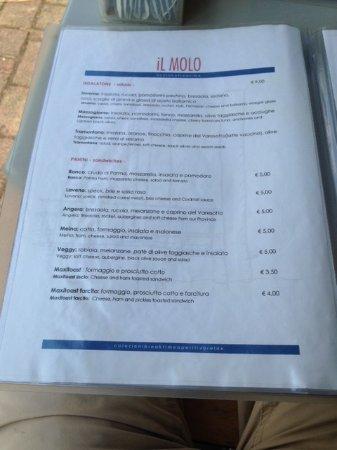 Ranco, Italia: Menu page
