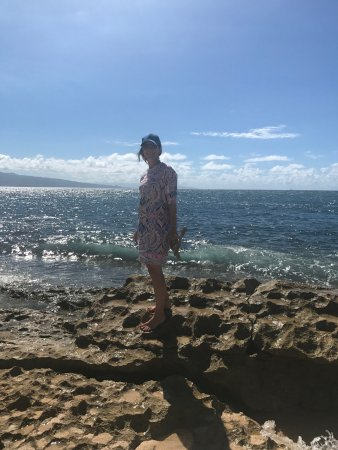 Paia, HI: Turtle Sanctury just beyond these rocks