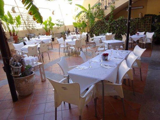 Provincia de Valencia, España: Esta es la terraza que nos resultó muy fresca y bonita