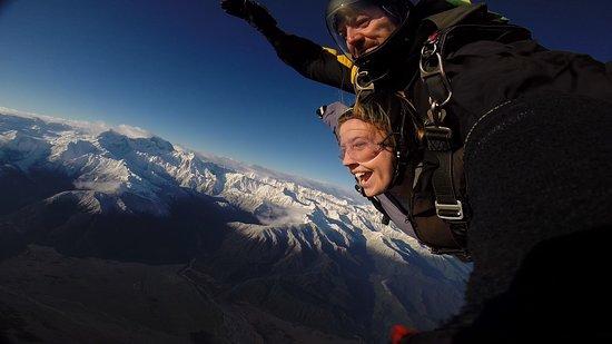 Fox Glacier, Yeni Zelanda: Amazing views while in free fall