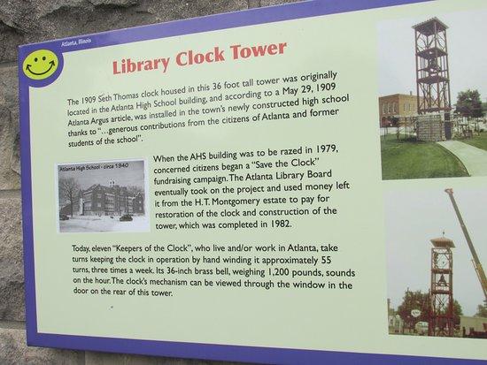 Atlanta, IL: Clock Towere