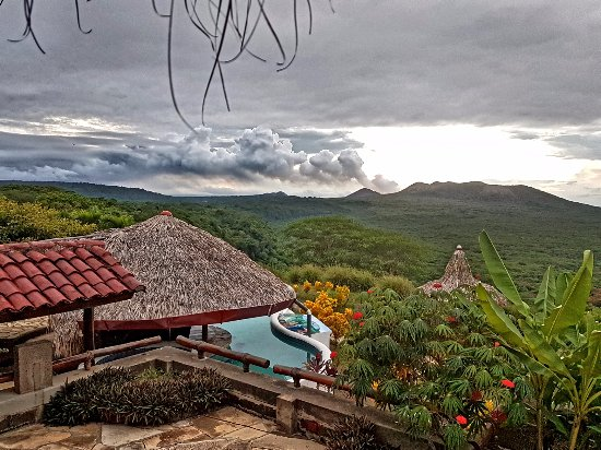 Masatepe, Nikaragua: Masaya Volcano in the background