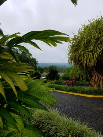 Hotel Lomas del Volcan: view from reception