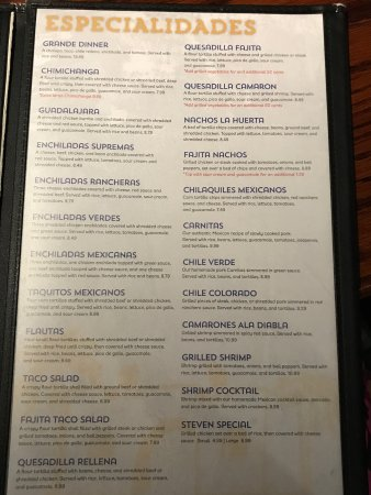 Siloam Springs, AR: Menu