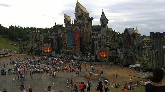 Tomorrowland Belgium: hauptbühne am tag