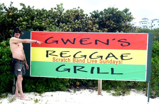 West End Village, Anguilla: Friends and Family at Gwen's. :)