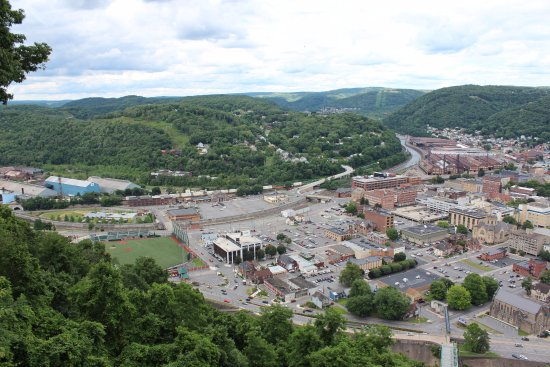Johnstown Inclined Plane: Looking down from the Inclined Plane in Johnstown, PA. (Feel free to use my photo for anything).