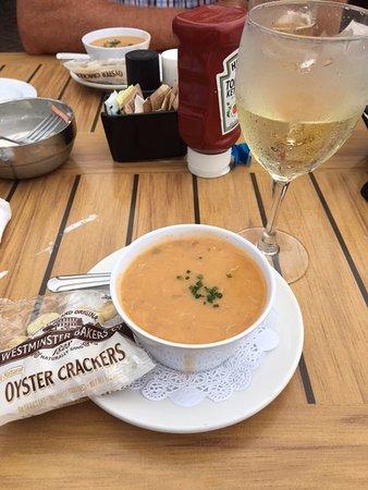 Highlands, نيو جيرسي: Lobster bisque soup