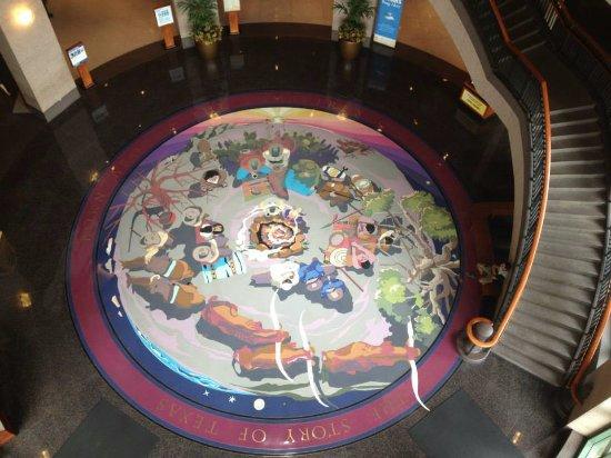 Bullock Texas State History Museum: Intricate Floor Design at Bullock TX State Museum