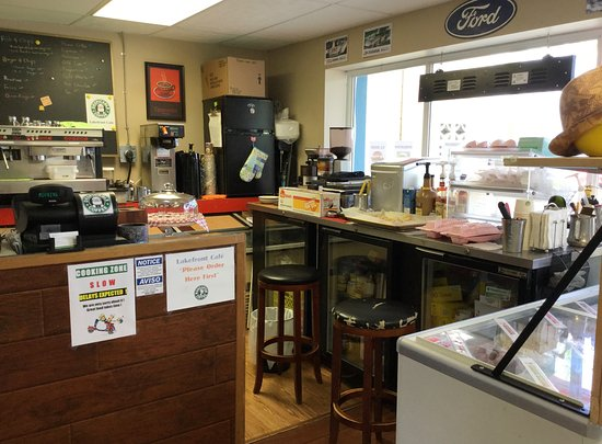 Lakefront Cafe: View of the service counter.