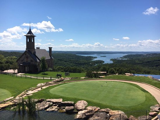 View From Arnies Barn Of The Golf Course Chapel And Table Rock - Table rock lake golf course