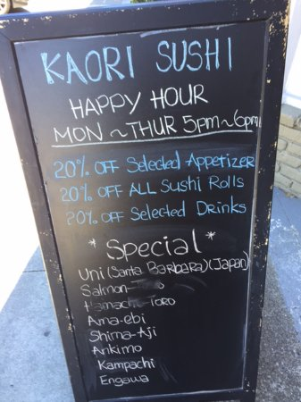 San Mateo, CA: I went for lunch but the happy hour looks tempting.