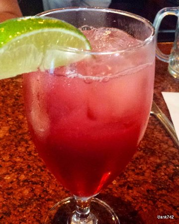 Leawood, KS: CRANBERRY JUICE WITH A MIX OF LIME JUICE
