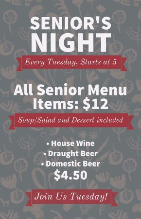 Three Hills, Καναδάς: Senior's Night special, designed specifically for those who have been around for a while, and ne