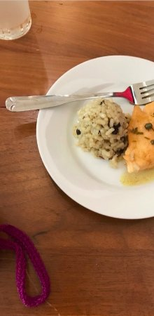 Athens, OH: Chicken Picatta & Risotto with Mushrooms, small plate