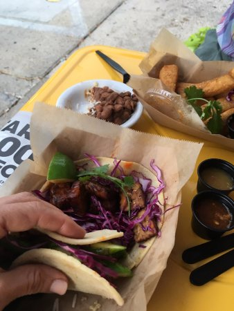 Corner Taco: We were eating the food so fast and almost forgot to take a photo!