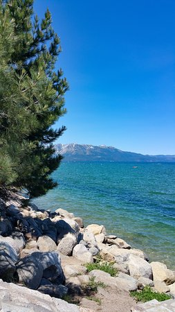 Campground by the Lake: South Lake Tahoe, California. Just a very short walk from the campsite.