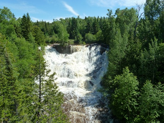 Eagle River Falls after rain, July 2017