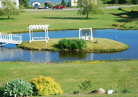 St. Martins Country Inn: The beautiful pond in front of the Country Inn
