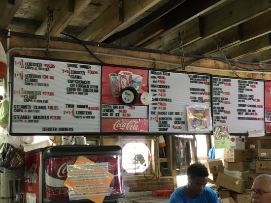 Belfast, ME : this is their menu with prices.