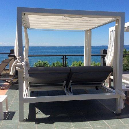 Sun lounger on roof terrace