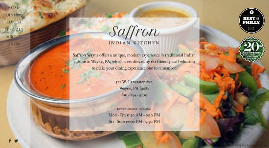 Bala Cynwyd, PA: about Saffron Indian Kitchen (web download)