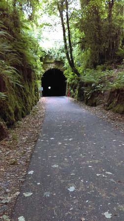 County Waterford, Irland: the light at the end of the tunnel on the greenway