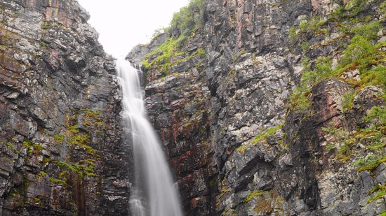 Alvdalen, Suecia: Njupeskär vattenfall.