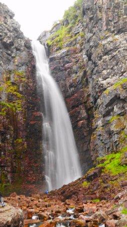 Alvdalen, Suécia: Njupeskär vattenfall.