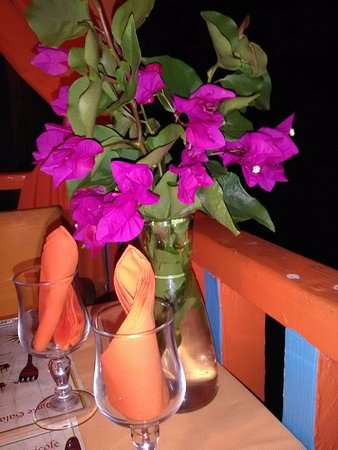 Saint Louis, Guadeloupe: She even picked flowers from her garden for our table.