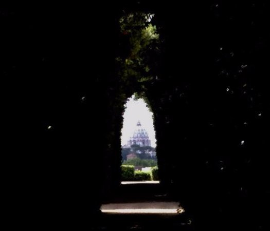 Rome By Segway: Looking Through The Door Peep Hole To See The Vatican