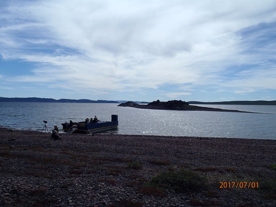 Bathurst Inlet Lodge: the blue loo