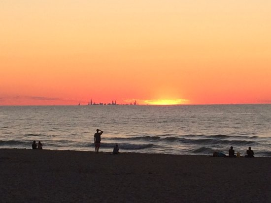 Chesterton, IN: Sunset over the CUBS from Indiana Dunes St Park