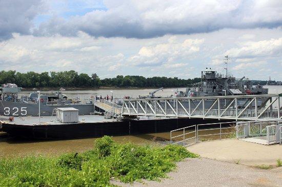 USS LST Ship Memorial: As seen from outdoor bar area