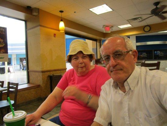 Louis and I at Subway Lincoln Mall.