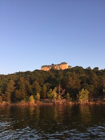 Chateau on the Lake Resort & Spa: photo taken from the marina upward to the Chateau