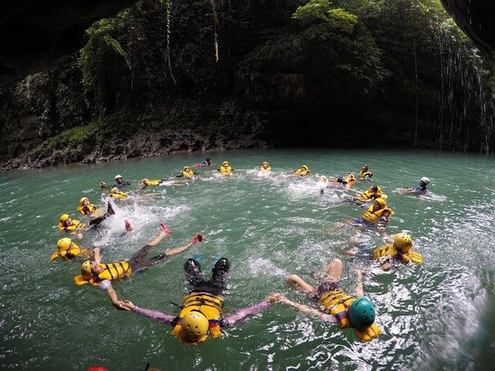 West Java, Indonesia: Circle Formation Body Rafting