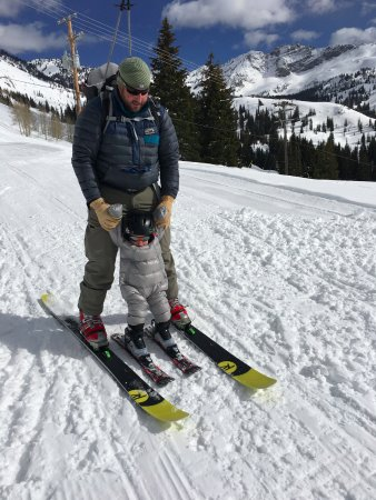 Alta, UT: Luke's first day skiing at 17months old