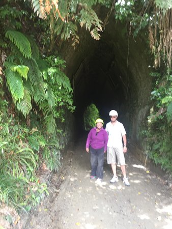 Whanganui, New Zealand: One of the Tunnels on the Old Whanga road