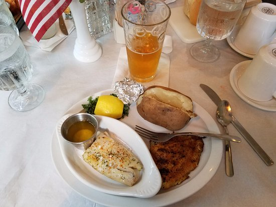 Clintonville, WI: Poorman's Lobster (Haddock), Catfish, Potato, and Beer