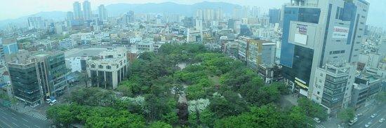 Novotel Ambassador Daegu: A view from my room on 7th floor